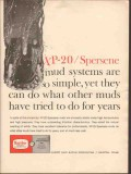 Magnet Cove Barium Corp 1962 Vintage Ad Oil XP-20 Spersene Mud Systems
