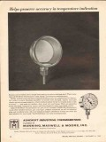 Manning Maxwell Moore Inc 1962 Vintage Ad Oil Temperature Indication