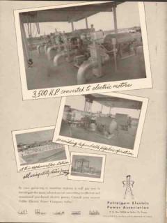 Petroleum Electric Power Assoc 1962 Vintage Ad Oil Efficient Economic