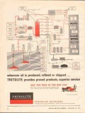 Petrolite Corp 1962 Vintage Ad Oil Products Produced Refined Shipped