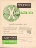 Petrolite Corp 1962 Vintage Ad Oil X-Cide Bactericides Control Algae