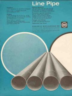 Phoenix-Rheinrohr Corp 1962 Vintage Ad Oil Line Pipe Seamless Welded