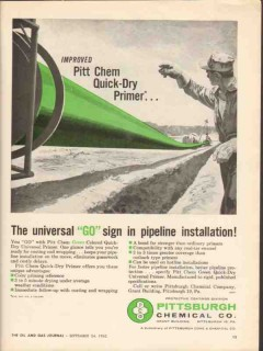 Pittsburgh Chemical Company 1962 Vintage Ad Oil GO Quick-Dry Primer