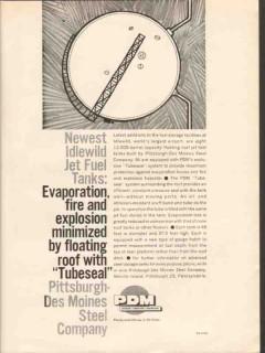 Pittsburgh-Des Moines Steel Company 1962 Vintage Ad Oil Jet Fuel Tanks