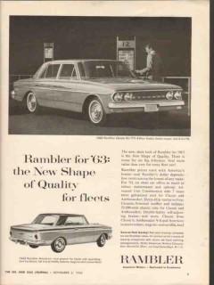 american motors corp 1962 new shape rambler fleet car vintage ad