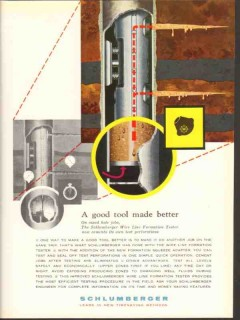 Schlumberger 1962 Vintage Ad Oil Field Drilling Good Tool Made Better
