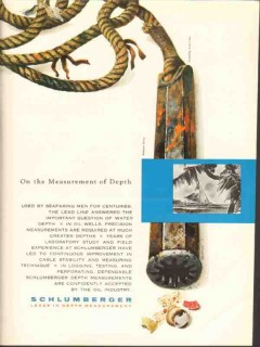 Schlumberger 1962 Vintage Ad Oil Field Drilling Measurement Depth