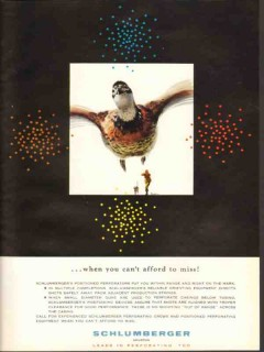 Schlumberger 1962 Vintage Ad Oil Field Cant Afford To Miss Duck Cowan