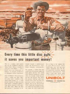 Thornhill-Craver Company 1962 Vintage Ad Oil Unibolt Little Disc Pops