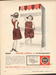 United Supply Mfg Company 1962 Vintage Ad Oil Field Well Streamlined