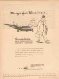 Aero Design Engineering Company 1953 Vintage Ad Wing Business Airplane