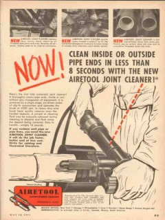airetool mfg company 1953 now joint cleaner pipe vintage ad
