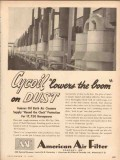 American Air Filter Company 1953 Vintage Ad Cycoil Lowers Boom On Dust
