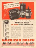 American Bosch 1953 Vintage Ad Maximum Spark Efficiency Engine Magneto