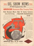 American Mfg Company TX 1953 Vintage Ad Oil Announcing New Pump Units