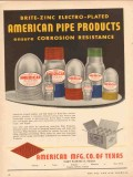 American Mfg Company TX 1953 Vintage Ad Oil Brite-Zinc Electro-Plated