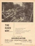 Associated Pipe Line Contractors 1953 Vintage Ad Algonquin Gas Swamp