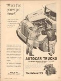 autocar company 1953 what you got there uphill v8 truck vintage ad