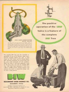 Beaumont Iron Works Company 1953 Vintage Ad Valve Positive Operation