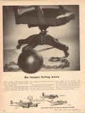 beech aircraft corp 1953 no longer being worn ball chain vintage ad