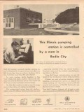 Bell Telephone System 1953 Vintage Ad Remote Telemeter Pumping Station