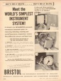 Bristol Company 1953 Vintage Ad Oil World Simplest Instrument System