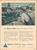 Brown Root Inc 1953 Vintage Ad Oil Engineers Constructors Make Fur Fly