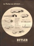 Butler Mfg Company 1953 Vintage Ad Oil LP Transport Trucks Tanks Tulsa