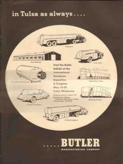 Butler Mfg Company 1953 Vintage Ad Oil LP Transport Trucks Tanks Tulsa
