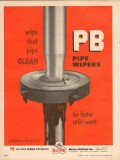 Byron Jackson Company 1953 Vintage Ad Oil Pipe Wipers Clean Fast Safe