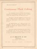C F Braun Company 1953 Vintage Ad Oil Gas Continuous Fluid Coking Unit
