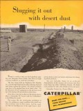 caterpillar tractor company 1953 slugging desert dust pipe vintage ad