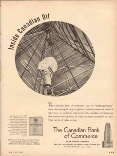 Canadian Bank Of Commerce 1953 Vintage Ad Inside Oil Banker Geologist