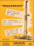 Cardwell Mfg Company 1953 Vintage Ad Oil Rig Up Minutes Trailermast