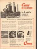 Philip Carey Mfg Company 1953 Vintage Ad Oil Insulation Gulf Pt Arthur