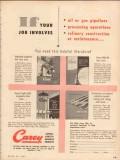 Philip Carey Mfg Company 1953 Vintage Ad Oil Gas Pipeline Job Involves