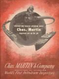 Chas Martin Company 1953 Vintage Ad Oil Petroleum Inspectors Wherever