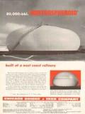 Chicago Bridge Iron Company 1953 Vintage Ad Oil Hortonspheroids West