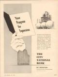 city national bank 1953 program expansion gas oil industry vintage ad