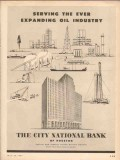 city national bank 1953 houston serving expand oil industry vintage ad