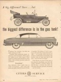 cities service 1953 biggest difference gas tank petroleum vintage ad