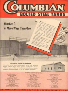 Columbian Steel Tank Company 1953 Vintage Ad Oil Number One More Ways