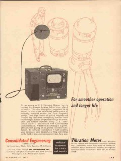 Consolidated Engineering Corp 1953 Vintage Ad Vibration Meter Smoother