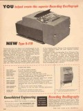 Consolidated Engineering Corp 1953 Vintage Ad Recording Oscillograph