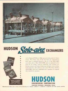 Hudson Engineering Corp 1953 Vintage Ad Gas Solo-Aire Exchangers