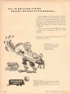 Hycalog Inc 1953 Vintage Ad Oil Field Drilling Fluid Hycaloggers