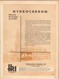 Hydrocarbon Research Inc 1953 Vintage Ad Oil Planned Processing Profit