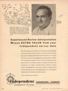 Independent Exploration Company 1953 Vintage Ad Oil James D Crary