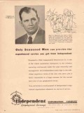 Independent Exploration Company 1953 Vintage Ad Oil Earle L Manning