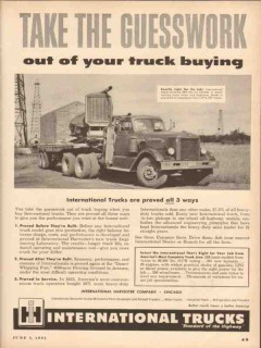 international harvester 1953 guesswork buying trucks vintage ad